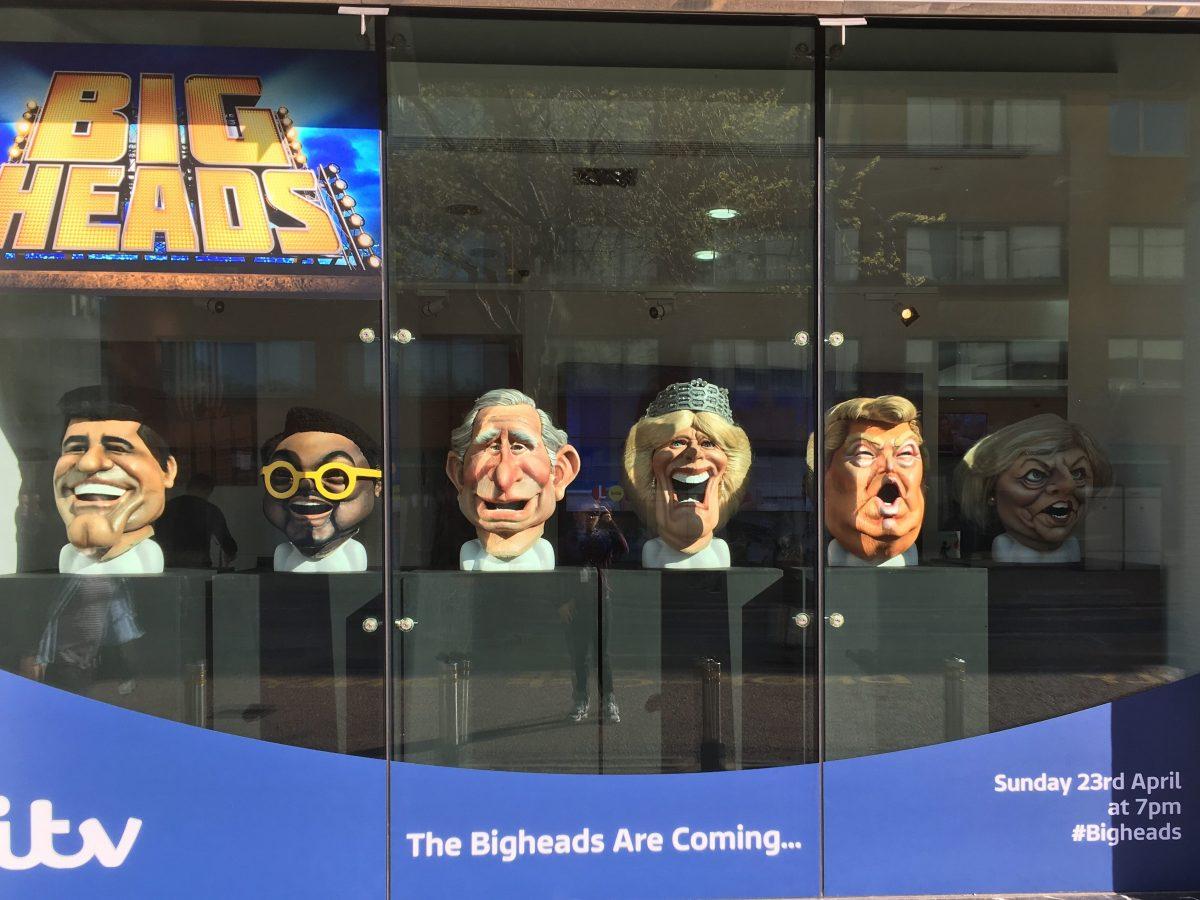 Bigheads on Display at ITV